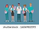 doctor character set for... | Shutterstock .eps vector #1606983595