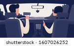 pair of people sitting on front ... | Shutterstock .eps vector #1607026252