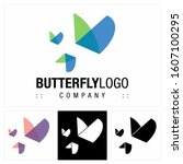 butterfly  insect  vector... | Shutterstock .eps vector #1607100295