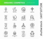 organic cosmetics set of thin... | Shutterstock .eps vector #1607107108