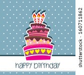 happy birthday card party with... | Shutterstock . vector #160711862