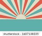 sunlight rays retro horizontal...   Shutterstock .eps vector #1607138335