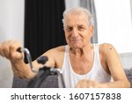 senior man make physiotherapy... | Shutterstock . vector #1607157838