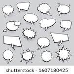 set of blank template in pop... | Shutterstock . vector #1607180425