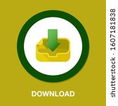 download icon   vector download ... | Shutterstock .eps vector #1607181838