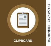 clipboard with checklist icon.... | Shutterstock .eps vector #1607197648