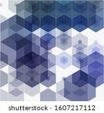 vector abstract geometric blue... | Shutterstock .eps vector #1607217112