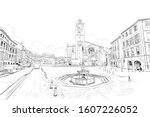 saint etienne cathedral.... | Shutterstock .eps vector #1607226052