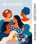 we can do it  poster... | Shutterstock .eps vector #1607231965