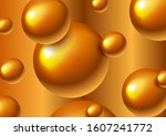 abstract bronze futuristic 3d... | Shutterstock .eps vector #1607241772