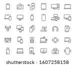 set of linear electronics icons.... | Shutterstock .eps vector #1607258158