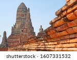sculpture ancient old pagoda at ... | Shutterstock . vector #1607331532