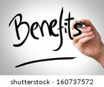 benefits hand writing with a... | Shutterstock . vector #160737572