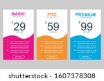 simple design set of pricing...