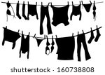 illustration of clothes drying...