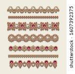 vintage jewelry border lines ... | Shutterstock .eps vector #1607392375