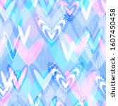 romantic seamless pattern with... | Shutterstock .eps vector #1607450458