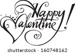 happy valentine  | Shutterstock .eps vector #160748162