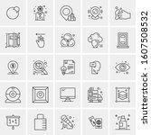 set of 25 universal business... | Shutterstock .eps vector #1607508532