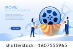 movie flat landing page with...