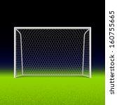 soccer goal on black. vector. | Shutterstock .eps vector #160755665