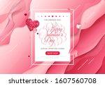 stock vector holiday valentine...   Shutterstock .eps vector #1607560708