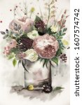 Beautiful Tender Bouquet In A...