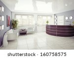 a reception area  modern... | Shutterstock . vector #160758575