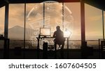male web developer silhouette... | Shutterstock . vector #1607604505