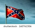Confederate Flag Waving In The...