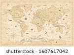 world map vintage old style  ... | Shutterstock .eps vector #1607617042
