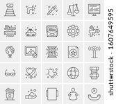 set of 25 universal business...   Shutterstock .eps vector #1607649595