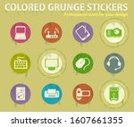 computer equipment colored... | Shutterstock .eps vector #1607661355