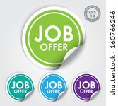 job offer circle sticker and... | Shutterstock .eps vector #160766246