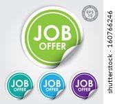 job offer circle sticker and... | Shutterstock .eps vector #160766246