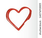 valentine's day vector  love... | Shutterstock .eps vector #1607693005