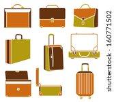 business bag set  suitcase | Shutterstock .eps vector #160771502