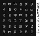 editable 36 mail icons for web...