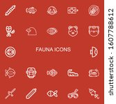 editable 22 fauna icons for web ... | Shutterstock .eps vector #1607788612