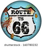 vintage route sixty six road... | Shutterstock .eps vector #160780232