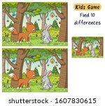 find 10 differences. funny... | Shutterstock .eps vector #1607830615