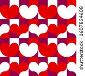 hearts seamless pattern for... | Shutterstock .eps vector #1607834608