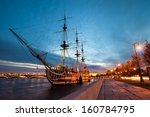 An Old Frigate In The Evening ...