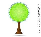 beautiful tree on white...   Shutterstock .eps vector #160786316