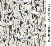 seamless floral pattern ...   Shutterstock . vector #1607878582