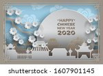 chinese new year 2020. china... | Shutterstock .eps vector #1607901145