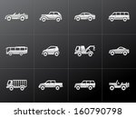 car icons in metallic style | Shutterstock .eps vector #160790798