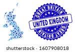 blue united kingdom map... | Shutterstock .eps vector #1607908018