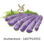 abstract landscape    lavender... | Shutterstock .eps vector #1607914552