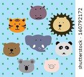 animal face   Shutterstock .eps vector #160792172